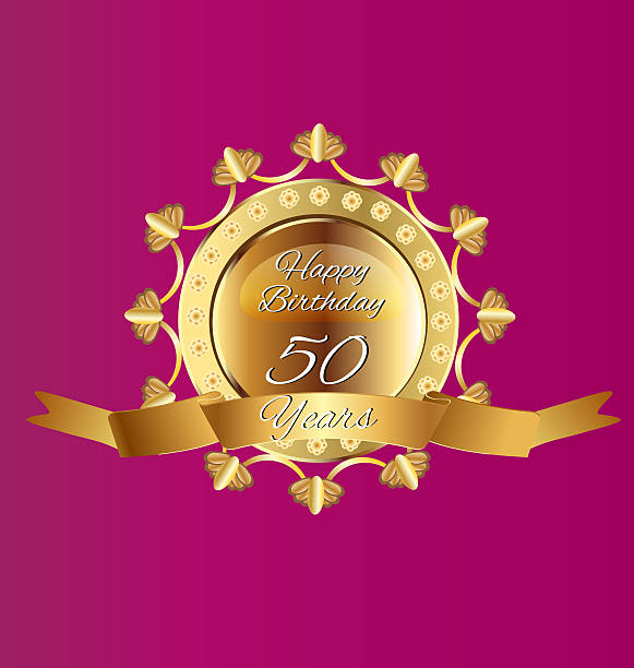 Anniversary of 50th years vector art illustration