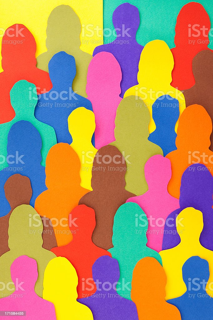 Anonymous crowd vector art illustration