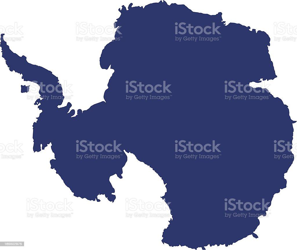 南極大陸 ベクターアートイラスト