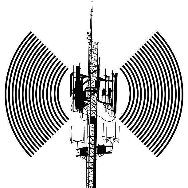 Antenna sign design vector art illustration