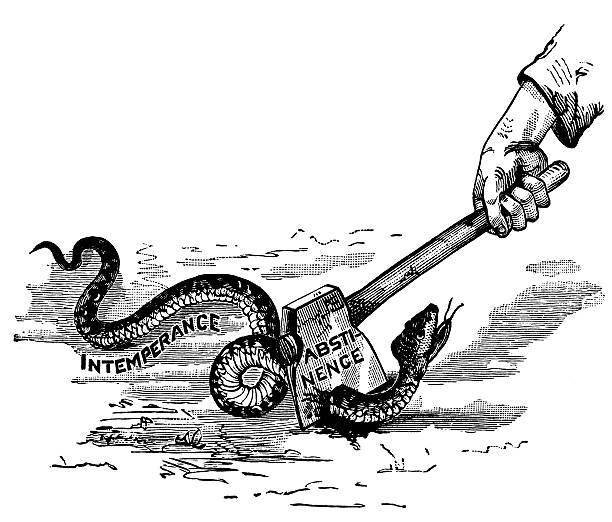 항 알코올 음각 - prohibition stock illustrations
