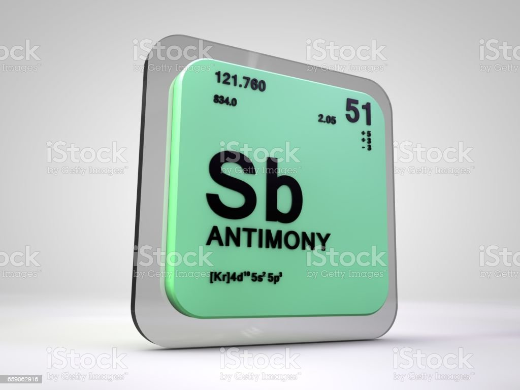 Antimony sb chemical element periodic table 3d render stock vector antimony sb chemical element periodic table 3d render royalty free antimony sb chemical urtaz Choice Image