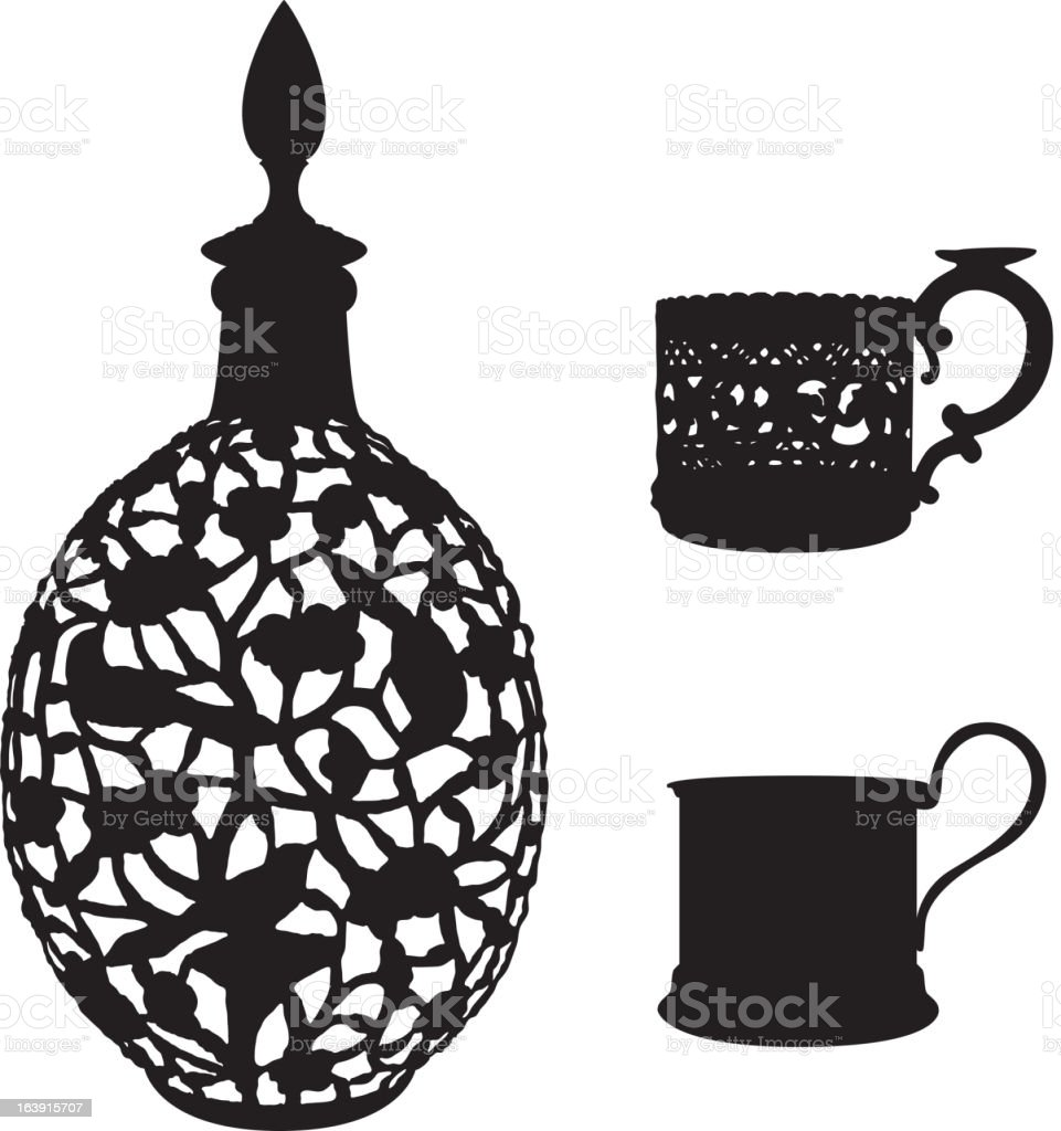 Antiquarian tableware royalty-free antiquarian tableware stock vector art & more images of antique