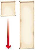 Antiquated Paper Scroll