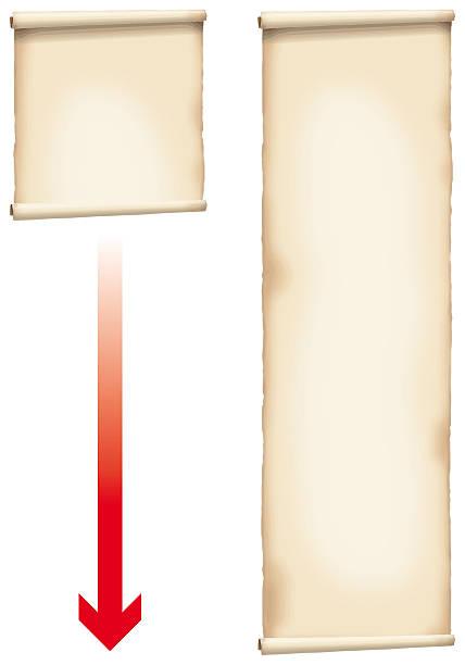 bildbanksillustrationer, clip art samt tecknat material och ikoner med antiquated paper scroll - ancient white background