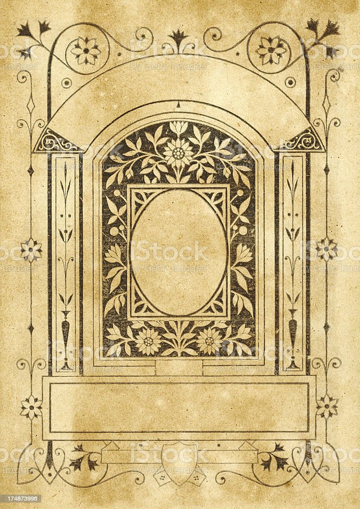 Antique aged paper background royalty-free stock vector art