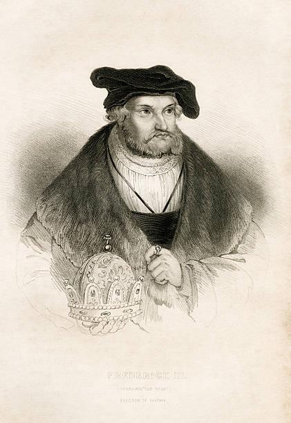 Antique book illustration: Frederick III, Elector of Saxony vector art illustration