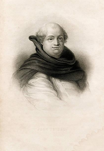 Antique book illustration: Johann (John) Tetzel vector art illustration
