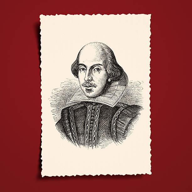 Antique book illustration: William Shakespeare vector art illustration