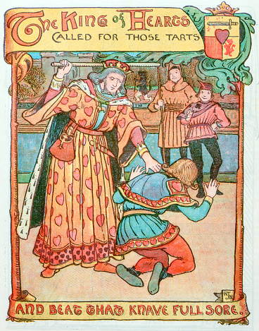 Antique children book illustrations: King of hearts