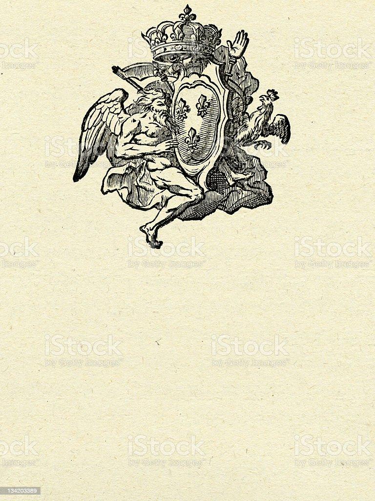 Antiguo escudo - ilustración de arte vectorial