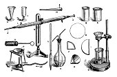 istock Antique engraving illustration: Chemistry equipment 692945120