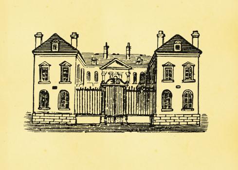 Antique Engraving - Mansion