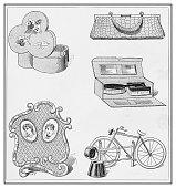 Antique illustration: Accessories