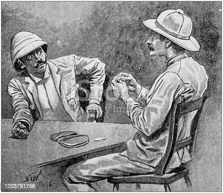 Antique Illustration: Adventure of Captain Kettle