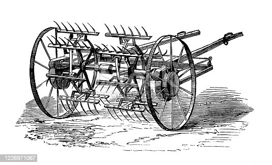 Antique illustration: Agricultural machinery