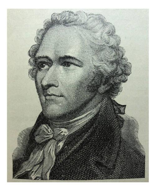 Antique illustration - Alexander Hamilton vector art illustration