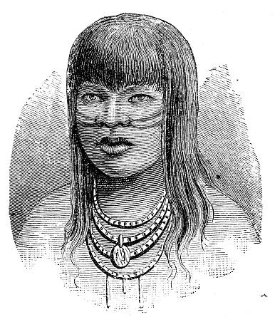 Antique illustration: American native, Brazilian