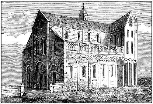 Antique illustration: Bitonto church