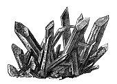 Antique illustration: Chalcedony quartz