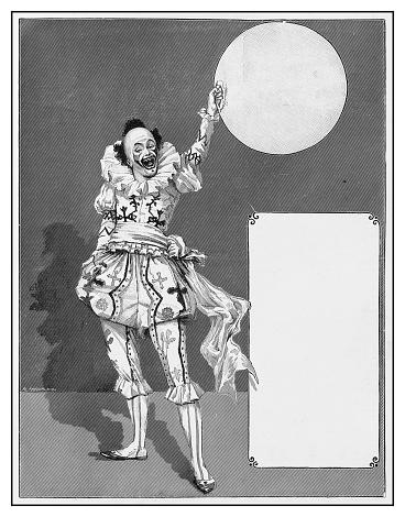 Antique illustration: Clown