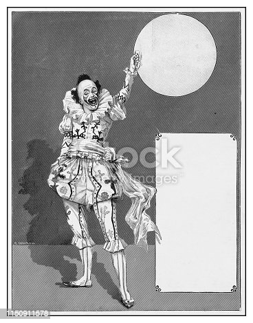 Antique illustration: Clown