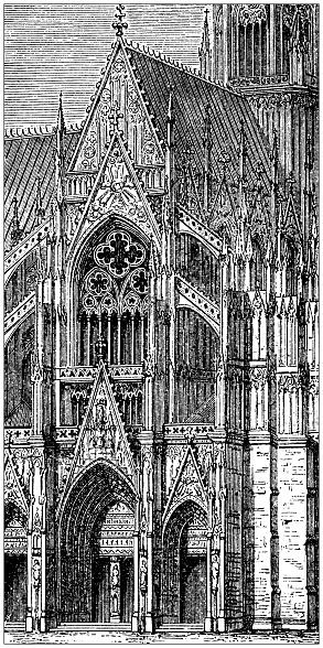 Antique illustration: Cologne Cathedral