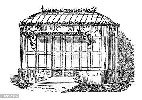 istock Antique illustration: Conservatory 909579662