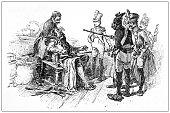 istock Antique illustration: cutting beard 1297809251