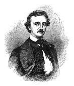 istock Antique illustration - Edgar Allan Poe 1160975137