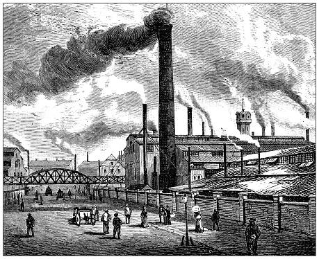 Antique illustration: Essen steel industry