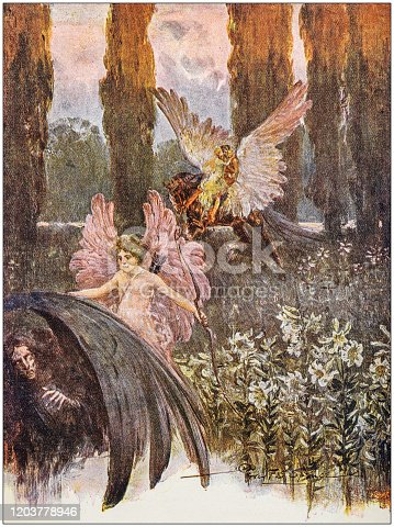istock Antique Illustration: Fantasy fable 1203778946
