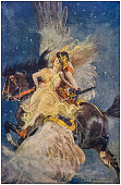 istock Antique Illustration: Fantasy fable 1203779123