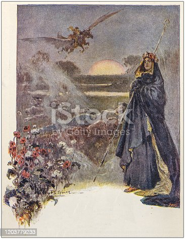 Antique Illustration: Fantasy fable