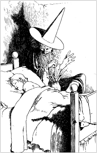 Antique illustration from Danish fairy tales by Hans Christian Andersen