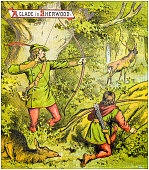 istock Antique illustration from fables picture book: The marriage of Allan-a-Dale 1145030655