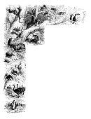 istock Antique illustration from school atlas: South America animals 1317779343