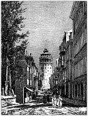 istock Antique illustration: Galata Tower 1243325346
