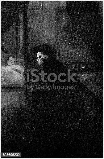 Antique illustration: Ghost