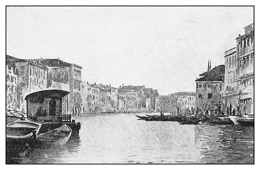 Antique illustration: Grand Canal, Venice