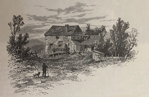 Antique illustration - house in the Catskill Mountains New York