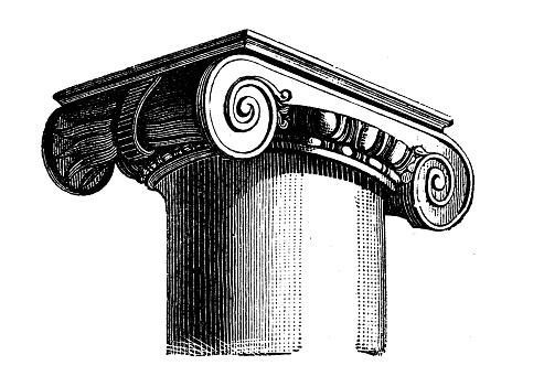 Antique illustration: Ionic capital