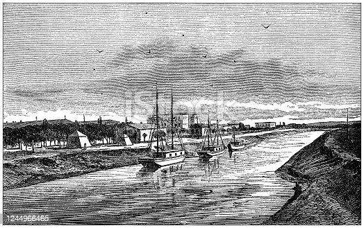 Antique illustration: Ismailia