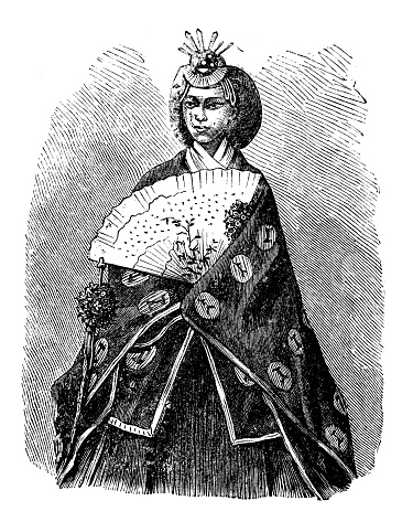 Antique illustration: Japan empress
