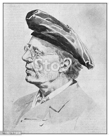 istock Antique illustration: Jonas Lie 1150741906