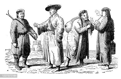 Antique illustration: Kalmyks