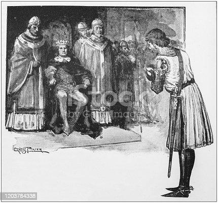 Antique Illustration: King