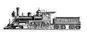 istock Antique illustration: Locomotive train 1245008178