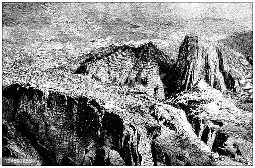 istock Antique illustration: Mount Parnassus 1245976554