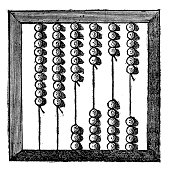 istock Antique illustration of abacus 187052557
